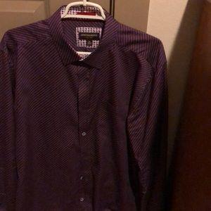 XL, Maroon, J&M lg sleeve shirt